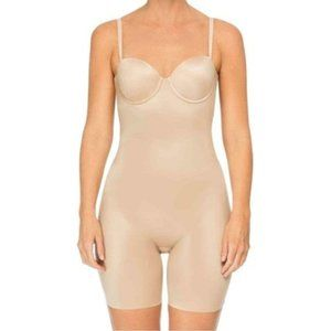 SPANX Bodysuit Suit Your Fancy Strapless Mid Thigh